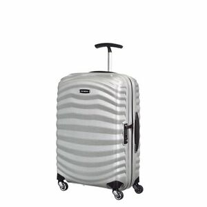 """NEW Samsonite Lite Shock 20"""" SILVER Carry on Luggage 4-wheeled 80315-1776"""