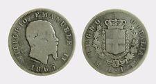 pci4493) VITTORIO EMANUELE II (1861-1878) 1 LIRA STEMMA 1863 MI AR
