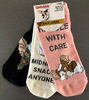 3 Paar Gremlins Gizmo Damen Sneaker Socken Füßlinge Mogwai 37-42 Glitzer Primark