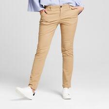 Women's Straight Leg Slim Chino Pants - A New Day NWT Beige or Black