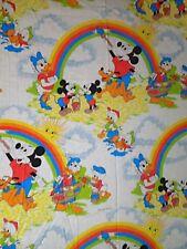 Mickey Mouse Rainbows Painting Twin Flat Bed Sheet Rainbow Disney Daisy Donald