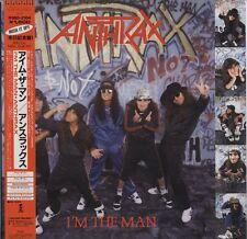 "Anthrax - I'm The Man 12"" JAPAN EP with OBI and LYRIC SHEET"
