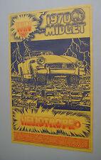 Vintage Automobile Raffle Poster Win a 1970 Midget Heliotrope San Francisco Ad
