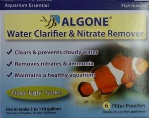 ALGONE WATER CLARIFIER & NITRATE REMOVER (6 FILTER POUCHES) 0666372010018