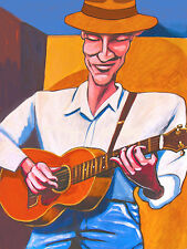 JAMES TAYLOR PRINT poster olson acoustic guitar mud slide slim blue horizon cd