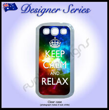 Designer Samsung S3 case hard cover Art Collection Galaxy Keep Calm and Relax