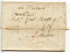 GERMANY 1828 pre stamp entire Hamburg-London 'via Holland'