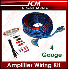 4 awg Gauge Car Amplifier Wiring Kit with Power Speaker Cable, RCA Lead, Fuses