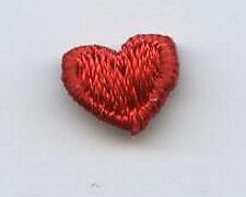 "Iron-On Applique Embroidered Patch Red Mini Heart 1/4"" PACK of 10 PIECES A8978"