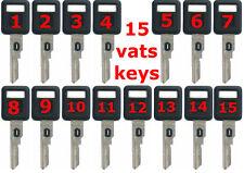 15 NEW GM VATS SINGLE SIDED KEY BLANKS B62-P1 Thru B62-P15 (15 DEFFERENT KEYS)