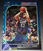 KARL-ANTHONY TOWNS 2019-20 NBA HOOPS TEAL EXPLOSION #111 TIMBERWOLVES
