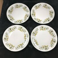 "Set of 4 Vintage WINTERLING BAVARIAN CHINA Dogwood Pattern 7-1/2"" Salad Plates"