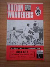 Bolton Wanderers v Hull City 27/3/71