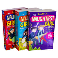 Enid Blyton The Naughtiest Girl 10 titles in 3 Book Collection-The Naughtiest Gi