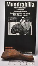 MUNDRABILLA IRON METEORITE, EXTREMELY RARE! AUSTRALIA MT41