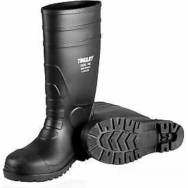Tingley 31151 Economy PVC Knee Boots ,Size 10, Black, Plain Toe, Cleated Outsole