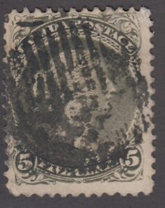 """Canada Scott #26iv  5 cent perf 11 3/4 x 12 olive green """"Large Queen""""  HCV $270"""