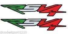 Aprilia RSV4 Motorcycle graphics stickers decals x 2 Italian flag design SMALL