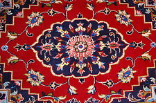 C 1930's ANTIQUE KORK WOOL_SILK ACCENTS PERSIAN KASHAN RUG 2x2.11 BEAUTIFUL