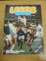 01/03/1975 Leeds United v Manchester City  (rusty staples). Footy Progs (aka bob