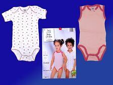 2 er Pack Baby Bodys Body Unterwäsche Gr. 74/80 Baumwolle  NEU Mädchen
