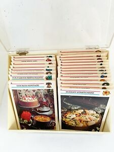 Vintage Nostalgic Mc Call Cooking Recipes Cards set Collection in a Box 1973