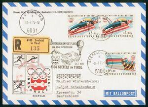 MayfairStamps 1975 Balloon Post Innsbruck Olympics Austria wwp6521