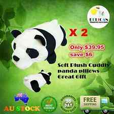 2 X Cute Cuddly Soft Plush Panda Nap Sleep Hug Pillow Package Gift Idea Couple