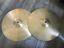 """Vintage Zildjian 14"""" NEW beat Hihat Drum Cymbals hihat"""