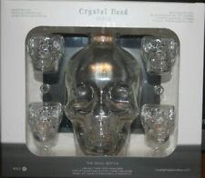 Crystal Skull Head Vodka Bottle with 4 Skull Shot Glasses