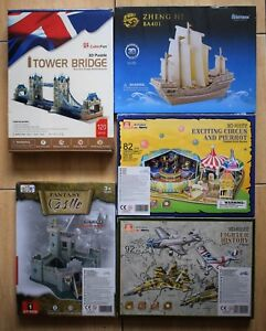 3D CONSTRUCTION PUZZLE FANTASY CASTLE FIGHTER PLANES CIRCUS TOWER BRIDGE JUNK TO