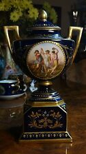 19th Century Royal Vienna Jewels Jeweled Vase Young Women Painted on both sides