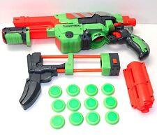 NERF VORTEX FOAM DISC BLASTER GUN WITH DISC & SHOULDER SHOCK ATTACHMENT