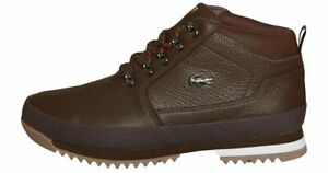 Lacoste Mens Upton Hiker Leather Boots BROWN