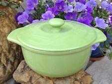CHANTAL Round Covered Ceramic Casserole Baking Dish 1-1/4 quart LIME GREEN
