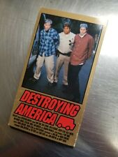 1st Pressing Hook-Ups Destroying America Skateboard Video Vhs Skate Birdhouse