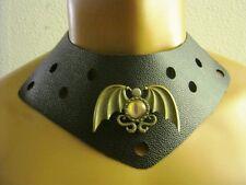 Gothic Collar Dragon Eye with wings Leather Gladiator Collar neckpiece