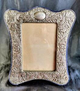 "HAUNTED Vintage Ornate Metal Picture Frame ~ Intricate Design ~ 5x7"" Opening"