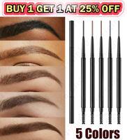 2in1 Waterproof Microblading Eye Brow Eyebrow Pen Pencil Slim Brush Makeup Tools