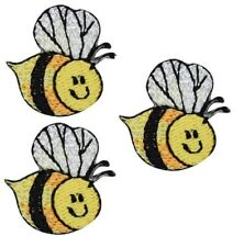 Children's Bumblebee Applique Patch - Honey Bee (3-Pack, Small, Iron on)