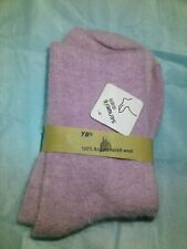 WOMENS   100%  ANGORA RABBIT  WOOL  SOCKS   SUPERSOFT    LIGHT PURPLE     NWT