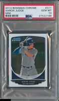 PSA 10 AARON JUDGE 2013 Bowman Chrome Mini Draft Picks #311 Rookie RC GEM MINT
