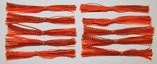 10 Custom Made Silicone Spinnerbait Skirts(Orange Bait Fish)Bass Fishing-Fishing