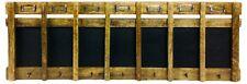 Wooden Weekly Blackboard Message Memo Board Seven Hooks Name Holders Wall Mount
