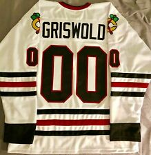 Men Clark Griswold #00 X-Mas Christmas Vacation Movie Hockey Jersey Stitched