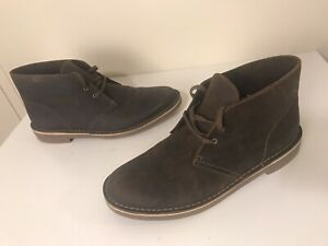 Clarks NWOB Bushacre 2 Brown Beeswax Leather Desert Chukka Ankle Boots Sz 10 W