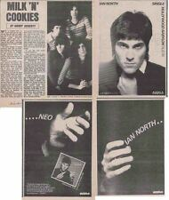 IAN NORTH : CUTTINGS COLLECTION -adverts interview- milk n cookies