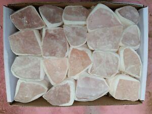 Rose Quartz Tray crystals wholesale job lot fossil, fossils