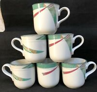 """Noritake NEW WEST 6 Mugs 3 3/4"""" EXCELLENT"""