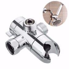 Holder ABS 3-Way Valve Shower Head Diverter Bathroom Sprayer Arm Mount